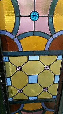 Antique Stained Glass  Window Victorian Era 8
