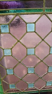 Antique American Aesthetic  Stained Leaded Glass Window 11