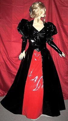 Lackkleid, Abenddress zweiteilig aus Lack,lang,Vinyldress,Vinylgown 2