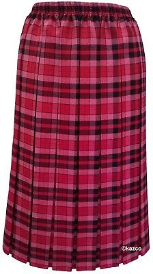 28df345953 ... Tartan Pleated Skirt For The Older Women Ladies New Check Skirts Red  Blue Green 5