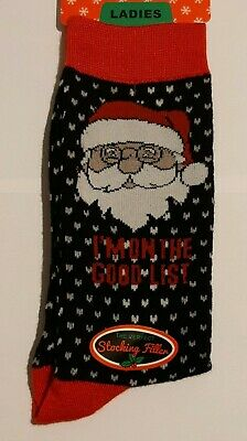 3x Pairs of Ladies Novelty Fun Christmas Socks / UK 4-8 Eur 37-42 New with tags 2