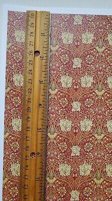 Dollhouse Wallpaper William Morris Art Nouveau Brown Teal Floral 1:12 Scale