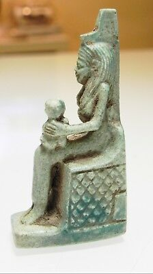 Zurqieh - As10012- Ancient Egyptian Large Faience Isis, Stunning. 600 - 300 B.c 3
