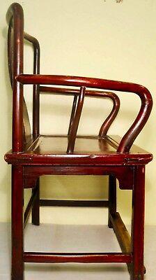 Antique Chinese Ming Arm Chair (2775), Cypress/Elm, Circa 1800-1849 8