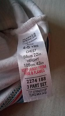 M&S uni sex vest,100%cotton,4-5yrs, used very good condition 5
