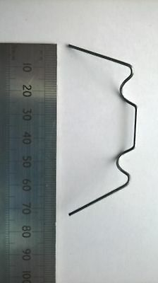 """50 Galvanized Wire /""""W/"""" Greenhouse Glass Pane Fixing Replacement Glazing Clips"""