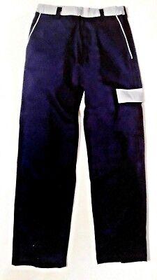 Completo Giubbotto E Pantalone Uomo Blu Con Inserti Grigi 100% Cotone Taglia L