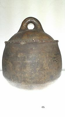 19th c. Berber Water Vessel with handle, Sub-Saharan Morocco, 10in. H x 8.5in. D 10
