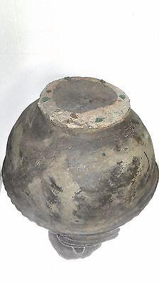 African Tribal Oil Lamp, Yoruba, Nigeria, 14.75in. H x 9.5in. D 7