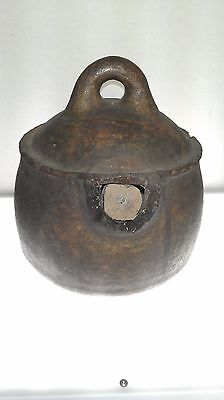 19th c. Berber Water Vessel with handle, Sub-Saharan Morocco, 10in. H x 8.5in. D 5