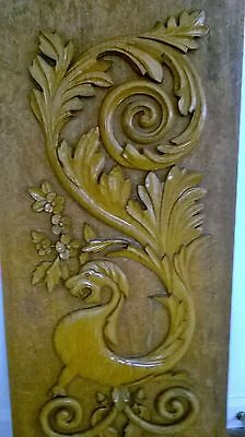 """41""""Ornate Antique Carved Architectural Gargoyle Gothic Eastlake Wall hanging 4"""