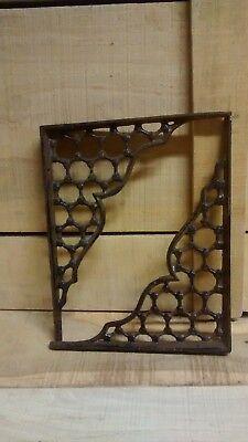 "2 Cast Iron Honey comb Large Shelf Bracket 7 3/4"" Tall X 9 1/4"" from wall 2"