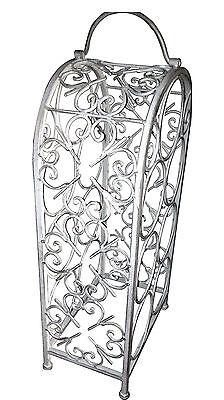 WINE RACK metal 7 bottle storage holder decorative stand gunmetal grey