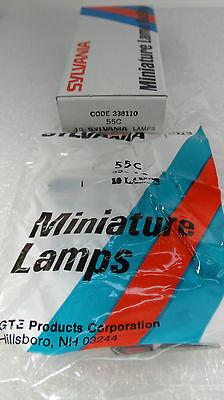 Miniature Lamp Bulb Sylvania 55C 358 Box of 10