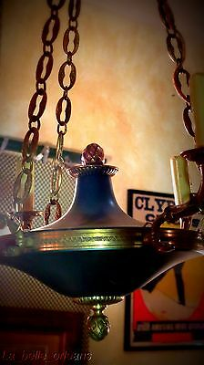Charming Empire Tole And Brass Chandelier . 6 Arms / Snakes !!! 8