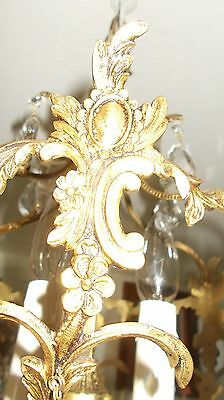 Antique Spanish Brass Orb w/Fancy Faceted Crystals [Mid-West Salvage] 5