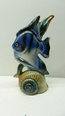Vintage Australian Pottery Fish & Shell Statue Wembley 2