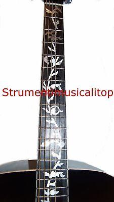 Chitarra Acustica Elettrificata Nera elettroacustica con Amplificatore Accessori