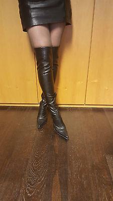 Gothic New Schwarz Luxus Gebraucht Overknee Stiefel Rock 8mvn0Nw