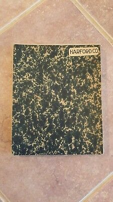 LARGE MARYLAND MAP - HARFORD COUNTY topography & Election Districts - 1922 3