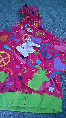 Little Miss Matched Reversible Hoodie Zip Up Jacket Large (Approx Age 8) NWT 4