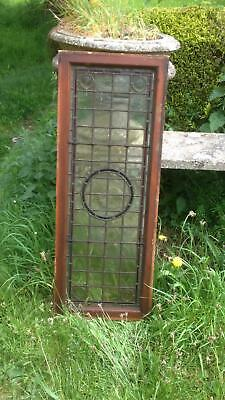 Architectural Antique Victorian Arts & Crafts Bullseye Leaded Glass Window Frame 3