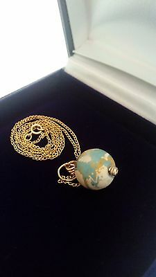 Fabulous Ancient Eastern Mediterranean  Bead And 14K Gold Chain Vintage Necklace 3