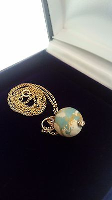 Vintage 14K Gold Necklace With 2,000 Year Old Ancient Eastern Mediterranean Bead 3