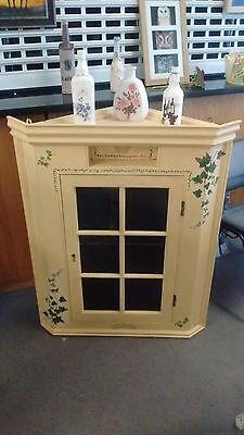 oak wall corner cabinet 2