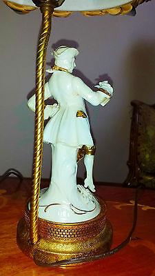 Antique Pair French Provincial Figurine Boudoir Lamps Light Fixtures Chandeliers 7
