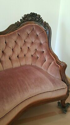 VICTORIAN JOHN HENRY BELTER ROSALIE with GRAPES SOFA GREAT CONDITION 8