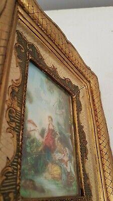 Miniature d'après François Boucher Peinture ancienne. painting miniature 2 9