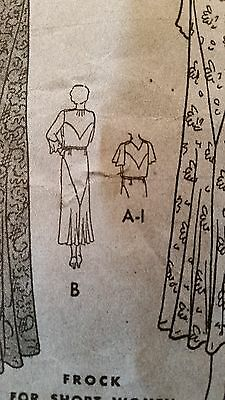 Antique Sewing Pattern-  Butterick # 4383 **1930's** 7