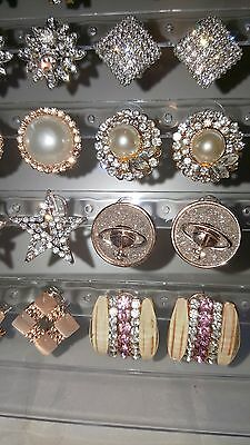 Job lot 18 Pairs Mixed Design Sparkly Diamante stud Earrings NEW Wholesale lot 1 7