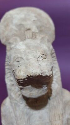 ANCIENT EGYPTIAN ANTIQUES Half STATUE Of GODDESS SEKHMET EGYPT Luxor STONE BC 7