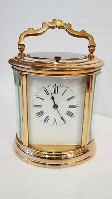 Large Oval Case Ormolu Repeat Strike 4 Glass Carriage Clock 2