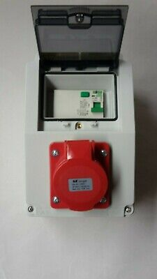 32A 5 Pin CEE 3 phase 16A RCD Protected Socket.400V-415V distro socket 63Amp
