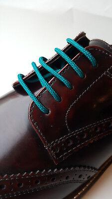 Fine Round Shoe Boot Laces Shoelaces 3mm Brogues Trainers Colours 45cm to 300cm