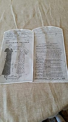 Antique Sewing Pattern-  Butterick # 4383 **1930's** 2
