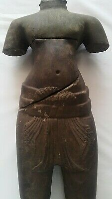 A STANDING FIGURE OF A MALE DEITY 'KULEN' STYLE. FRAGMENTED TORSO. STONE. 9th C. 2