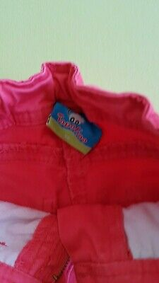 Topolino Lange Hose Mädchen 98 Rosa Weitenregulierung Jeanshose Stoffhose 2