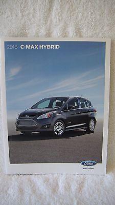 2016 Ford C-Max Hibird  Auto  Product Info Portfolio Brochure Book