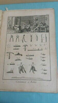 Recueil De Planches Sur Les Sciences Diderot 10 Tavole Di Mestieri Anno 1772 5