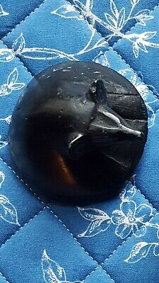 Ancient Egyptian Black Marble Canopic 8