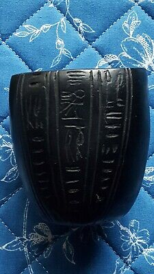 Ancient Egyptian Black Marble Canopic 9