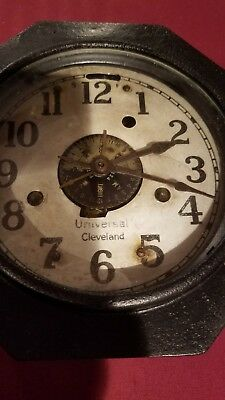 Antique Universal Cleveland Automatic Timer Clock Rare WORKING for factory shift 2