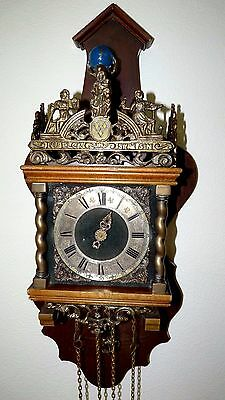 Old Figural WUBA Dutch Atlas Zaandam Wall Clock -Not working 2