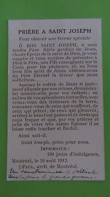 canivet santino holy card  immaginetta sacra San Giuseppe