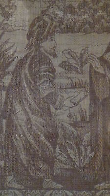Antique18C  Islamic Persian Hand Woven Tapestry With A Mosque On Distance,framed 5