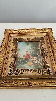 Miniature d'après François Boucher Peinture ancienne. painting miniature 2 3